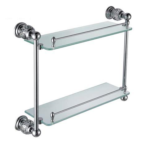 bathroom shelves glass chrome with original creativity