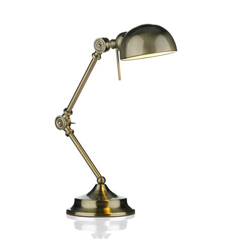 Task L Ranger Antique Brass Adjustable Desk Or Reading Table Lights