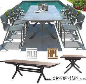 table de jardin aluminium 224 prix discount casedesiles