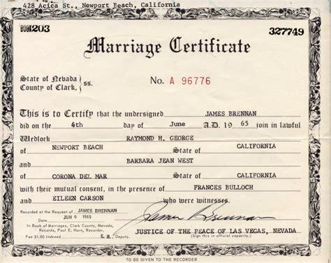 Santa Barbara Marriage License Records Patandmeloakesfamilysite