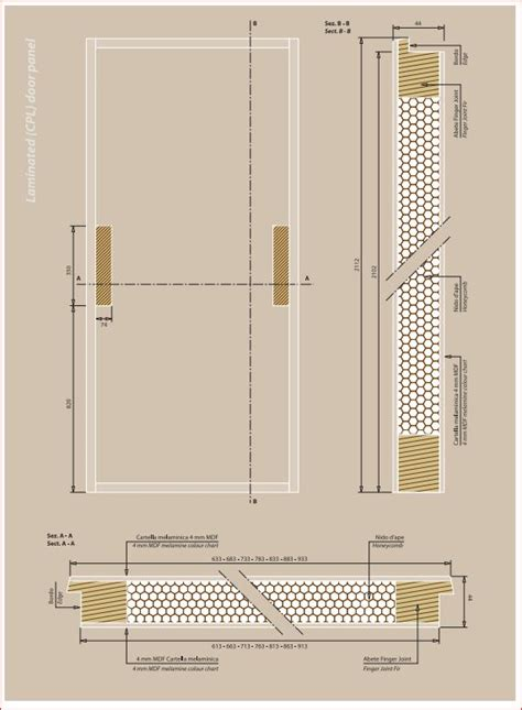 scheda tecnica porte interne come sono fatte le ante delle porte interne il tamburato