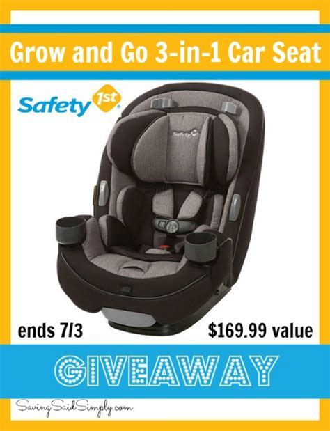 Car Seat Giveaway - safety 1st grow and go 3 in 1 car seat giveaway