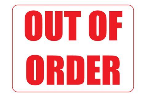 Bathroom Sign Out Of Order Printable Fresh Bathroom Out Of Order Sign Template