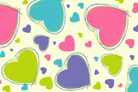 joyful stin the fashionable hearts joyful heart vectors