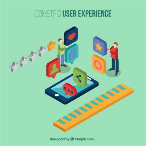 mobile user experience mobile user experience vector premium