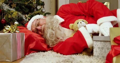 santa claus sleeping stock footage video 4950785