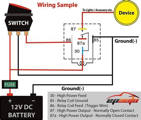 bosch 12v relay wiring diagram 12 volt battery wiring