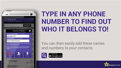 Privacystar Lookup Phone Number Lookup Android Apps On Play