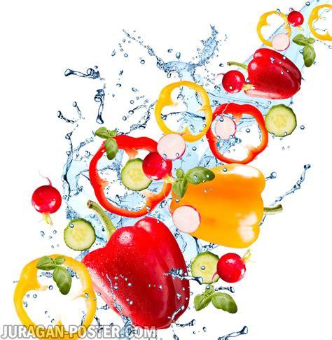 Jual Sayuran by Vegetables With Water Splash Jual Poster Di Juragan Poster