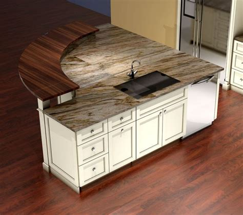 Kitchen Island With Two Different Countertop Materials Pin By Nick Miller Design On Kitchens