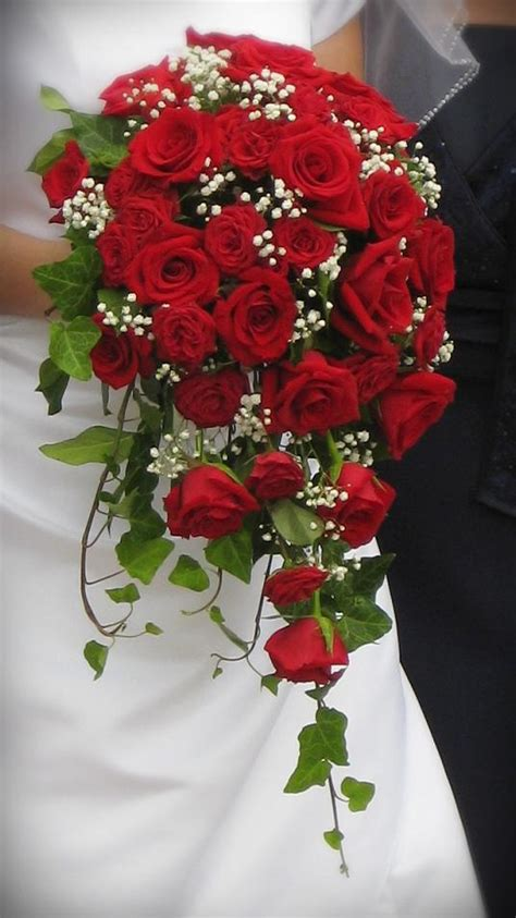 wedding flower arrangements roses cascade bouquets annateague