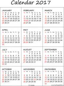 United States Of America Usa Calendrier 2018 Printable Calendar 2017 For Us Pdf Free Printable Pdf