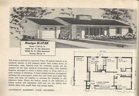 1950s floor plans vintage house plans 173 antique alter ego