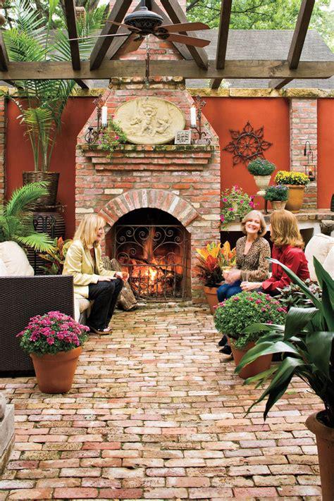 beautiful outdoor room ideas  fall