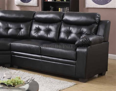 Faux Leather Sectional Sofa by 3020 Sectional Sofa In Black Faux Leather