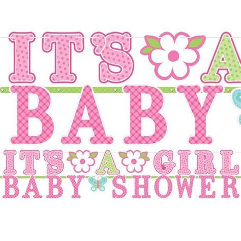 decorations for welcome home baby welcome baby girl party banner fun party supplies
