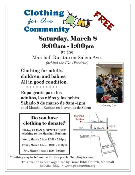 Free Clothes Giveaway - clothing giveaway at marshall ruritan fauquier now calendar