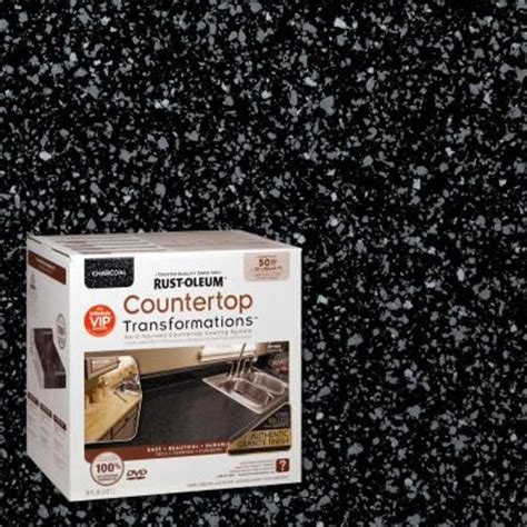 Rust Oleum Countertop Refinishing Kit by Rust Oleum Transformations 1 Qt Charcoal Large Countertop