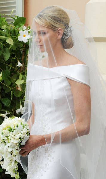 princess charlene wedding hair prince albert and charlene royal wedding the armani prive
