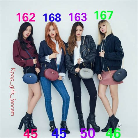 blackpink weight blackpink weight and height some information is wrong