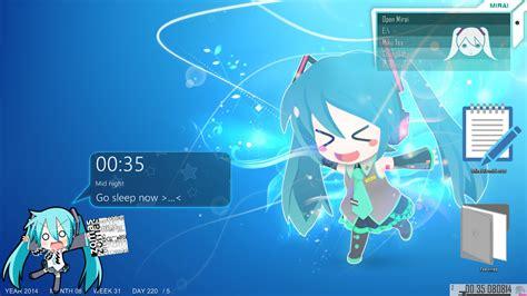 facebook themes skin anime rainmeter alarm anime by maddk on deviantart
