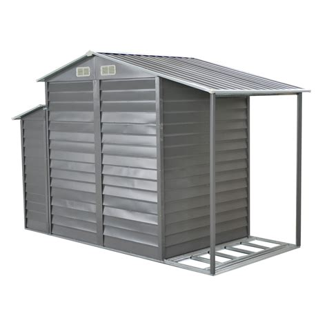 outsunny 10 x 5 metal outdoor garden storage shed w