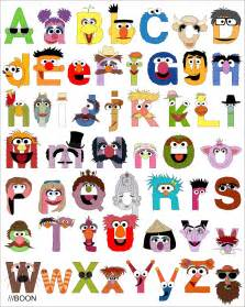 muppet mania sesame alphabet