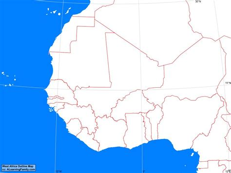 map of west africa africa west africa outline map a learning family