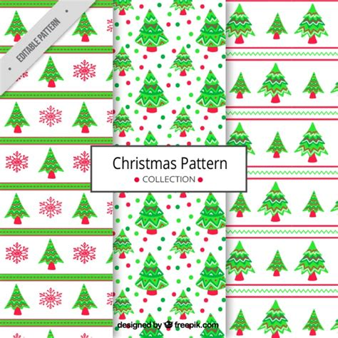 christmas patterns year 1 christmas tree patterns vector free download
