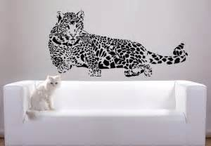 Leopard Wall Stickers Leopard Laying Wall Decal Rsting Predator Vinyl Sticker
