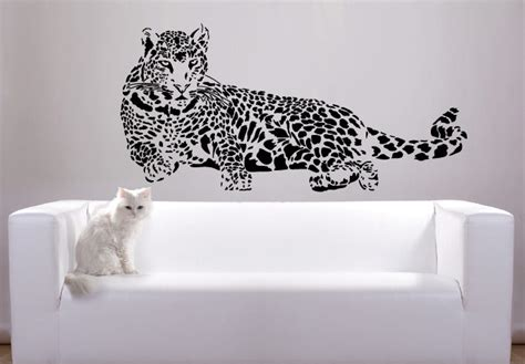 leopard wall stickers leopard wall decals decorative cheetah leopard vinyl wall decal styleywalls with