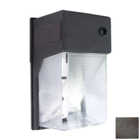 shop lights of america 10 in h bronze outdoor wall light
