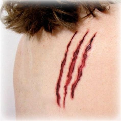 scratch mark tattoo designs 17 best images about gory costume ideas on