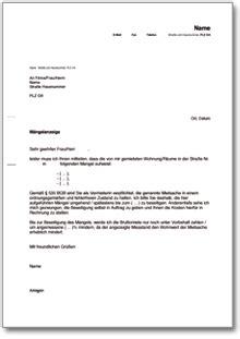 Schweiz Brief Schicken M 228 Ngelanzeige Bei Einer Wohnung De Musterbrief