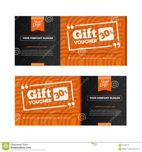 discounted restaurant gift cards two coupon voucher design gift voucher template with amount of stock vector image 65782779