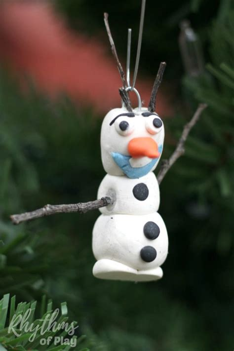 Child Handmade Ornament - frozen inspired olaf ornament make rhythms of play