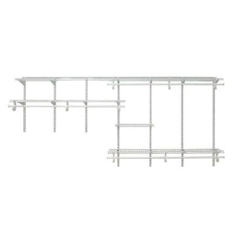 closetmaid shelftrack 7 ft 10 closetmaid shelftrack 7 ft 10 ft white wire closet