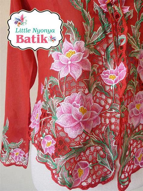 Kebaya Modern Quality by High Quality Peranakan Nyonya Kebaya Flower By