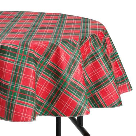 essential home 52 quot x 90 quot christmas plaid tablecloth home dining entertaining table
