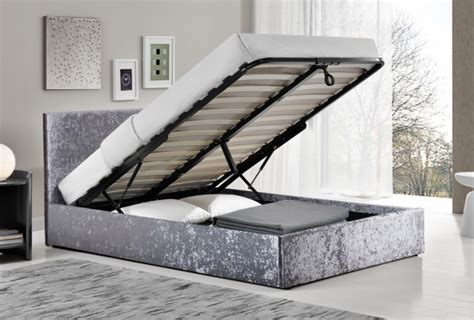 3 Foot Ottoman Birlea Berlin 3ft Single Steel Fabric Ottoman Bed By Birlea