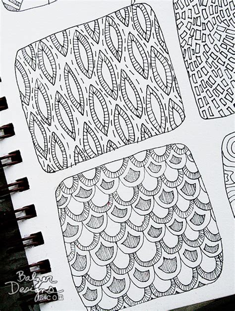 doodle pattern ideas balzer designs paperclipping pattern doodles