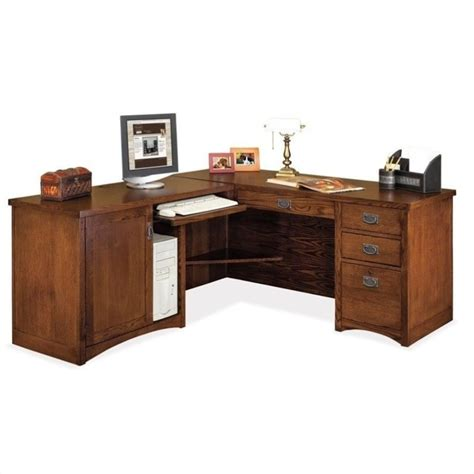 Mission Desk L by Kathy Ireland Home By Martin Mission Pasadena Lhf L Shape
