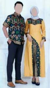 Sarimbit Rok Blus Kemeja Daun Gold Warna Lilit Wiru Kebaya grosir baju batik pekalongan busana batik pekalongan murah