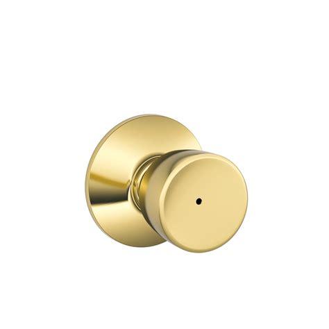 Door Knob Bells by Shop Schlage F Bell Bright Brass Push Button Lock