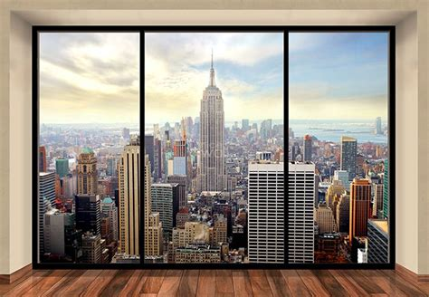 nyc wall murals new york skyline penthouse wall mural buy at allwallpapers