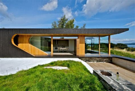 residential architecture design modern wooden cabin with folding glass walls digsdigs
