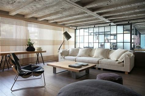wohnideen loft schickes loft und design studio in einem kombiniert