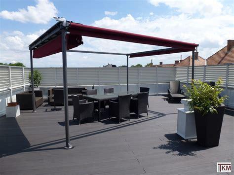 markise freistehend terrasse raffbeschattung terrassenbeschattung freistehend tkm