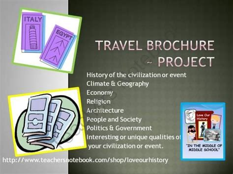 brochure templates for school project travel brochure historial event or civilization activity