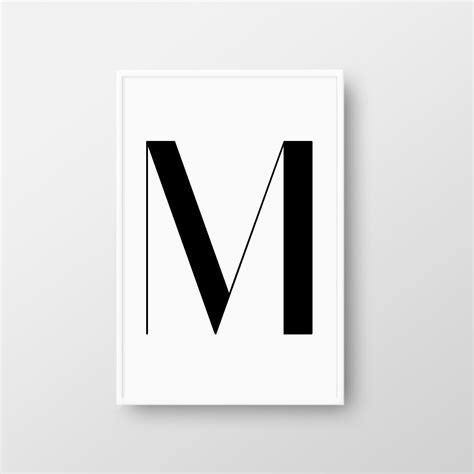 Letter M Printable Poster Scandinavian Poster Letter M M